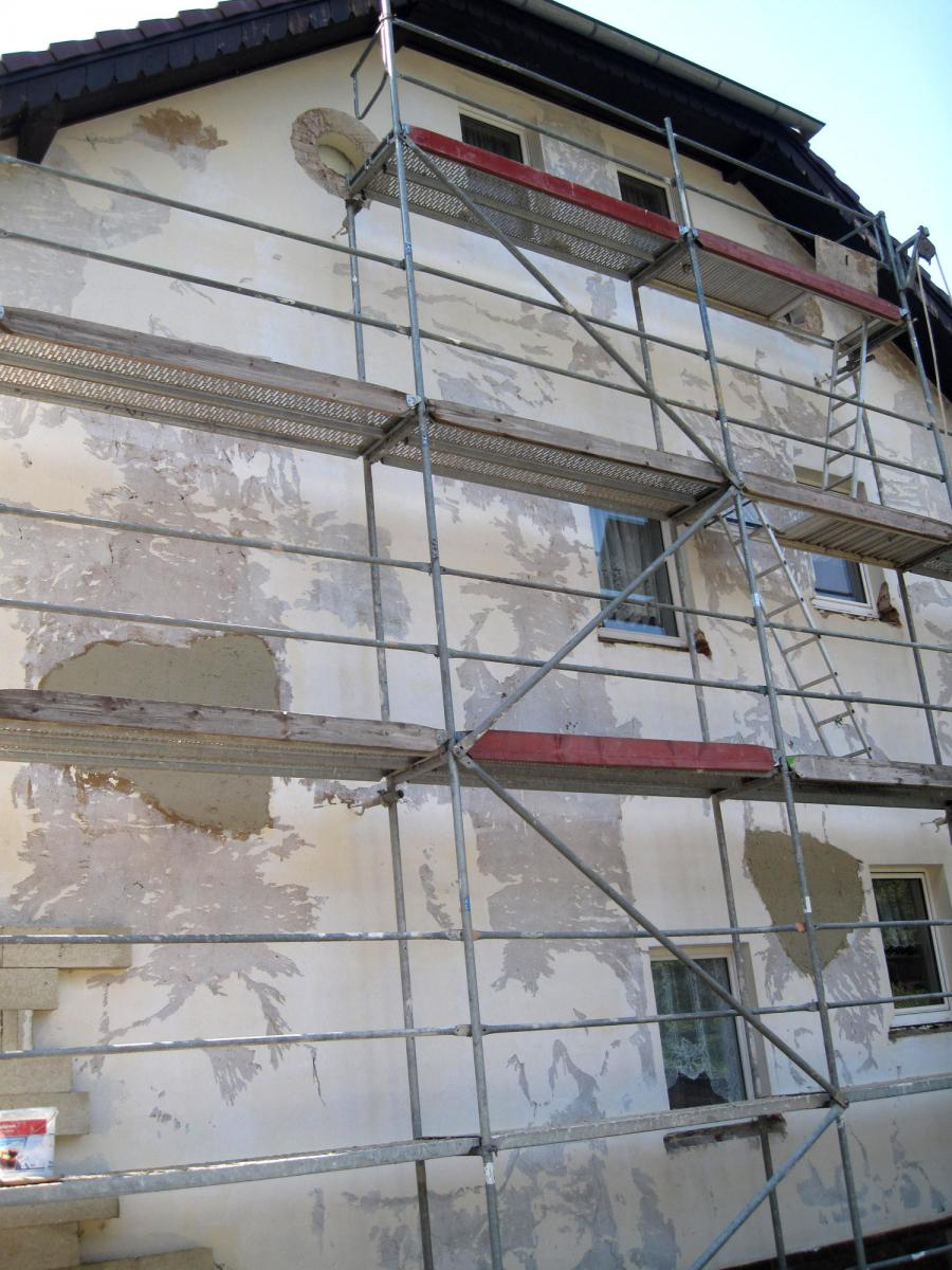 Fassadensanierung - Wärmedämmung, Mehrfamilienhaus