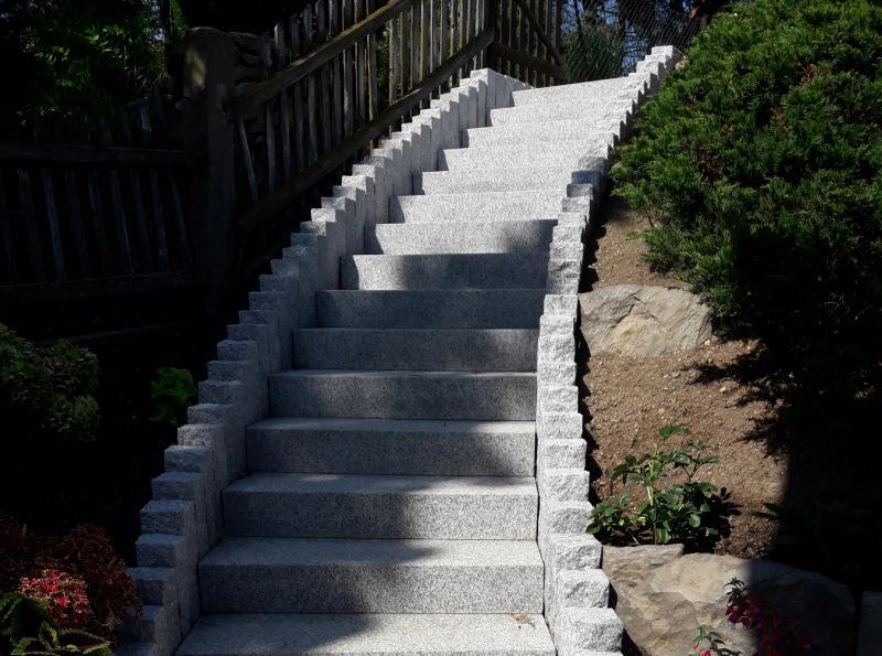 Setzen einer Außentreppe